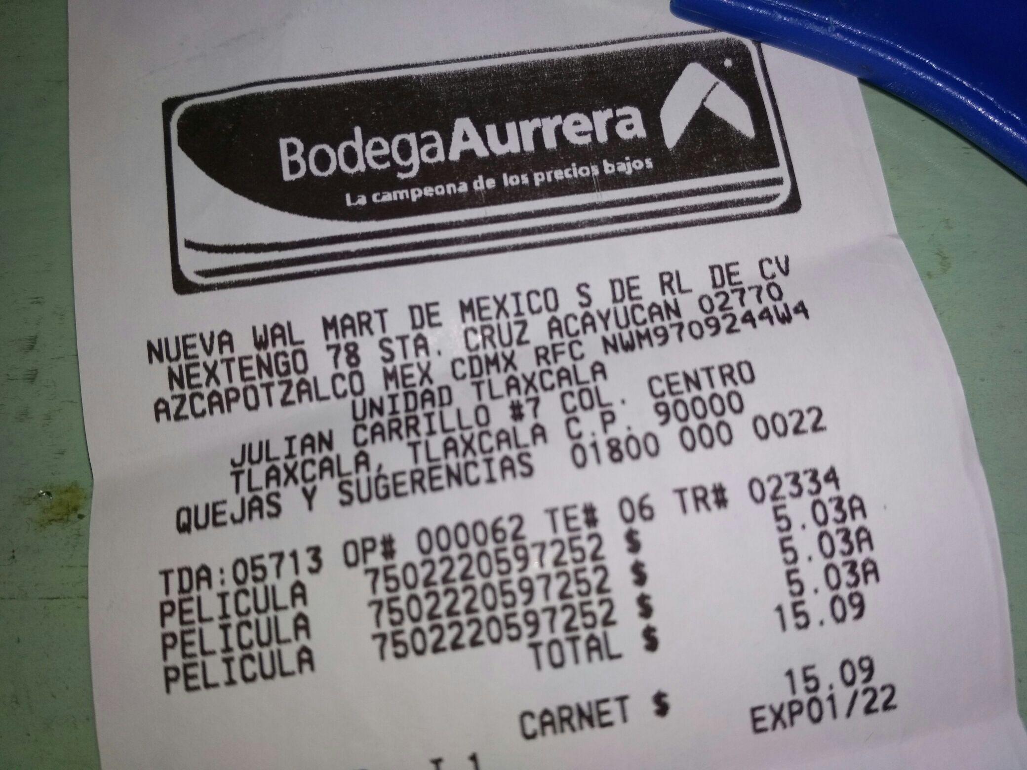 Bodega Aurrera Tlaxcala Centro: Películas DVD descuento (ej. The Office Primera temporada en 5.01)