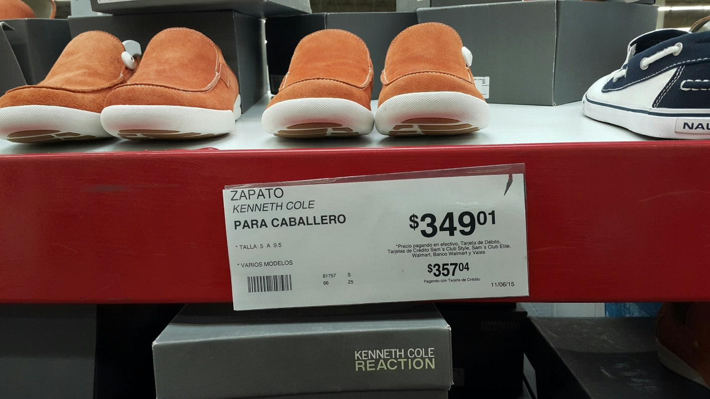 Sam's Club: Club Zapatos De Gamusa Kenneth Cole a $349