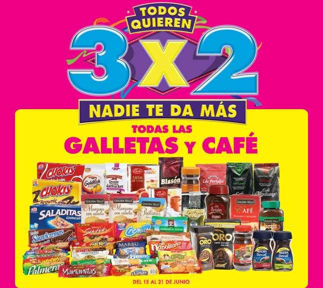 Ofertas de Julio Regalado 2015 en La Comer: 3x2 en galletas y café