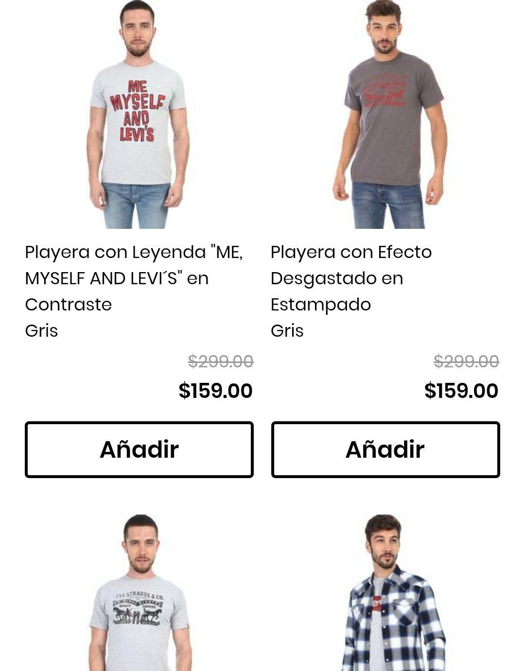 Privalia: Playeras Levi's hombre a partir de $159