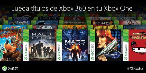 Juegos de Xbox 360 se podrán jugar en Xbox One