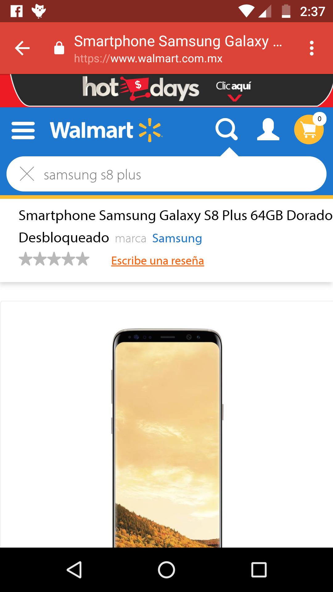 Hot Sale 2018 Walmart:  S8 Plus desbloqueado. 11500 bbva, 11800 Banamex.