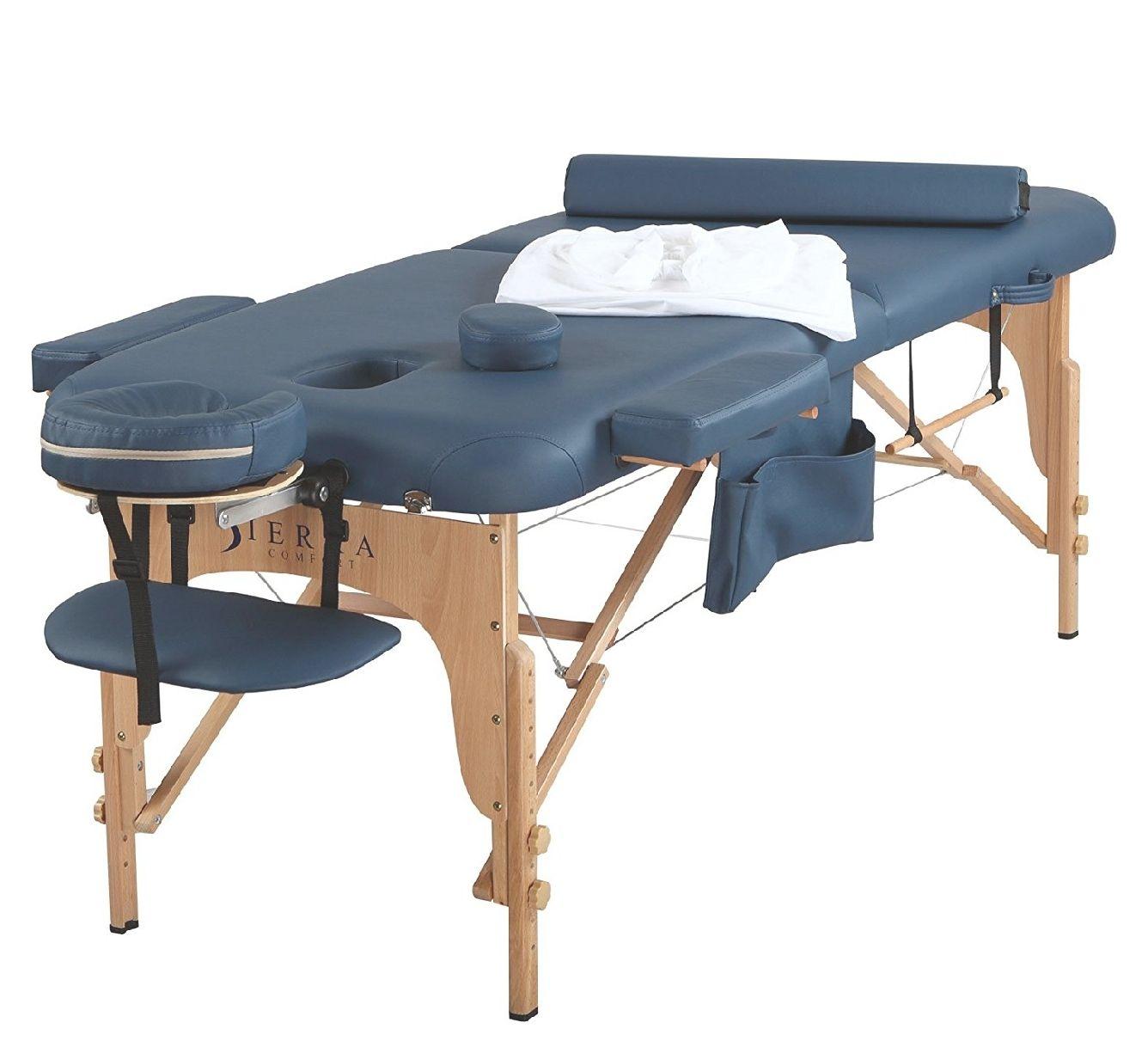 Amazon: Sierra Comfort mesa de masaje portátil todo incluido, Azul Royal