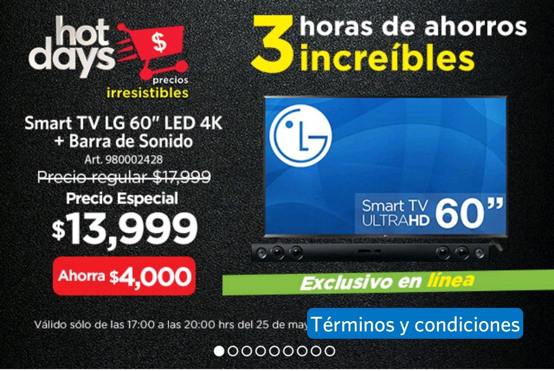 Sams Club: Pantalla LG 60'' 4k + Barra de sonido 60UJ6350 (Pagando con Citibanmex)