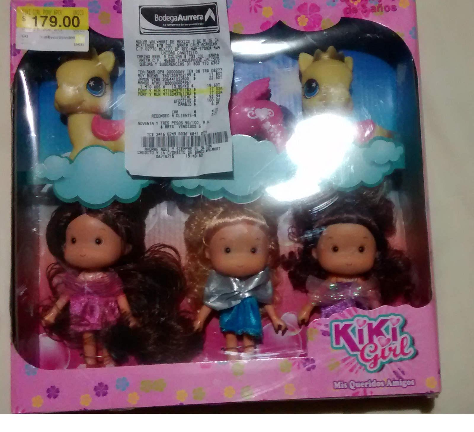 Bodega Aurrerá: juguete Pony Kiki Girls de $179  a  $17.02