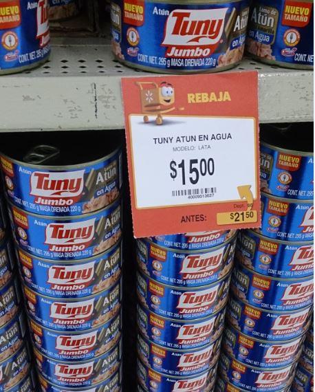 Walmart: Tuny Atun 295g Agua o Aceite $15