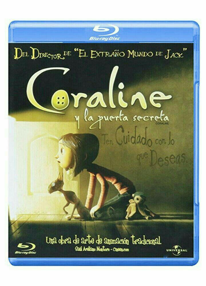 Amazon: Coraline en Blu-Ray (c/ Material Extra)