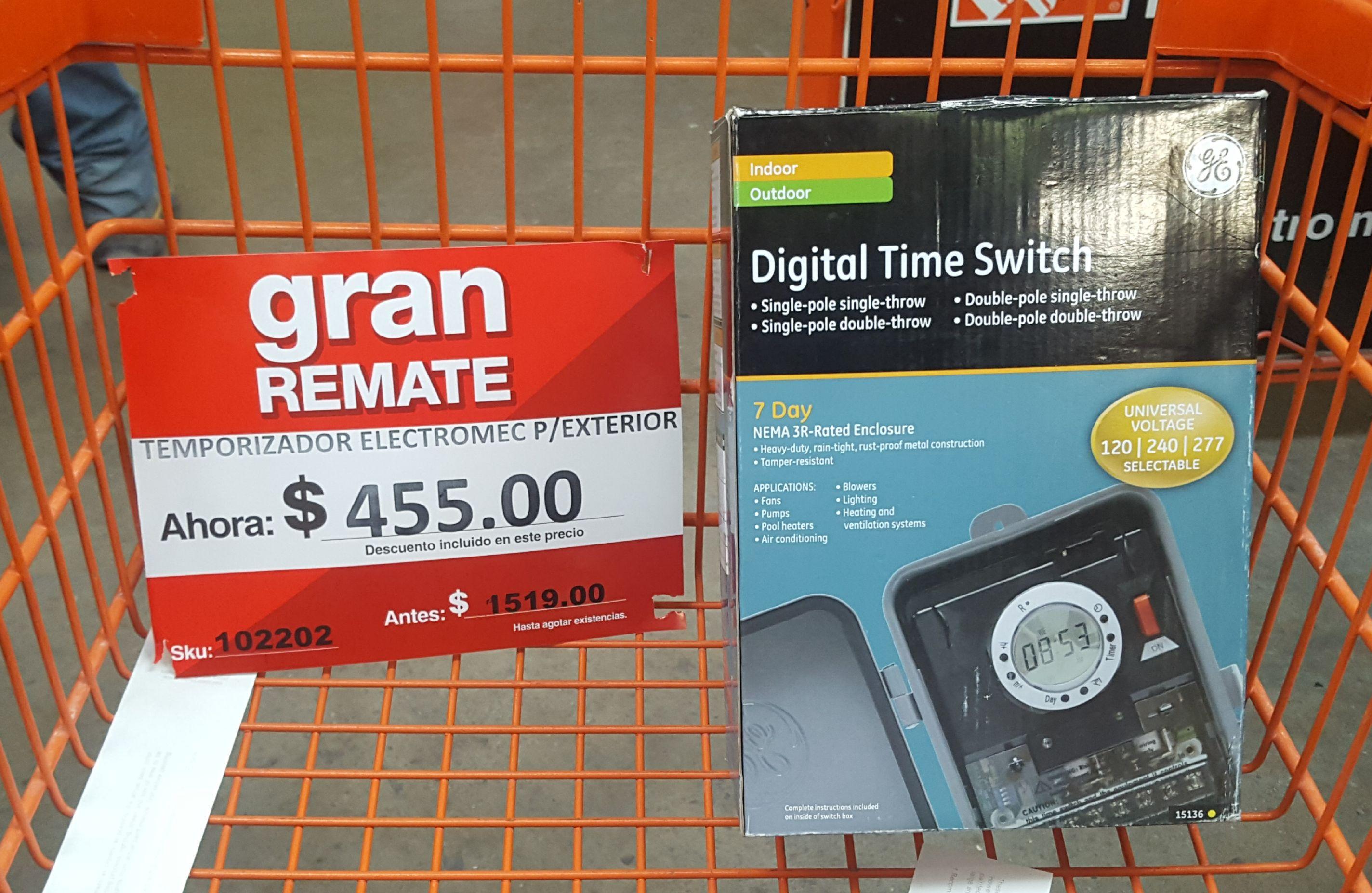 Home Depot: Digital Time Swicht de $1,519