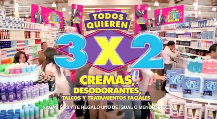 Ofertas de Julio Regalado 2015 en La Comer: 3x2 en cremas, desodorantes, talcos y tratamientos faciales