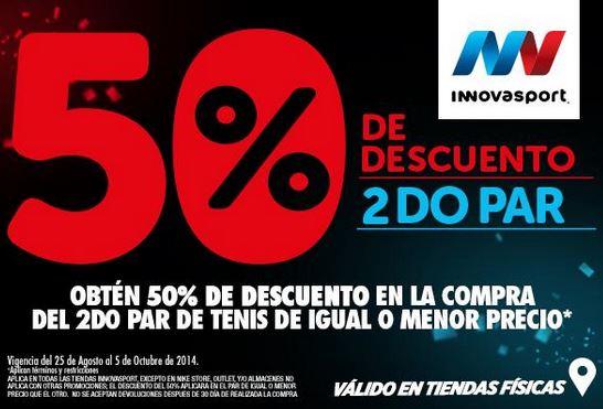 InnovaSport: 50% de descuento en el segundo par