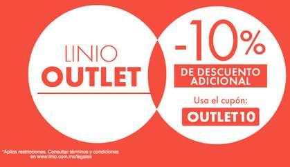 Linio: cupón 10% de descuento extra en outlet