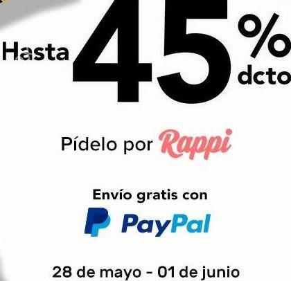 Hot Sale: Rappi hasta 45% de descuento en supermercado y envío gratis