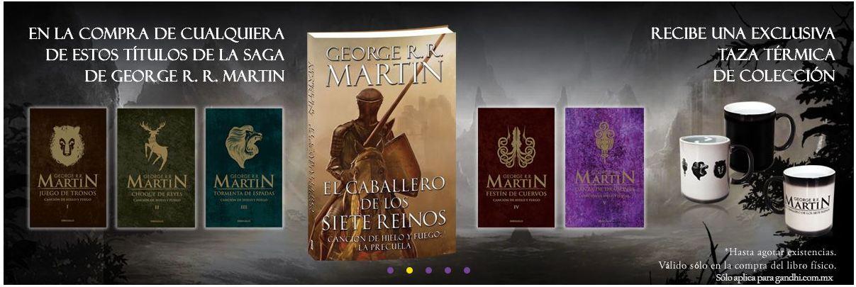 Gandhi: Taza de Game of Thrones en la compra de uno de libros seleccionados