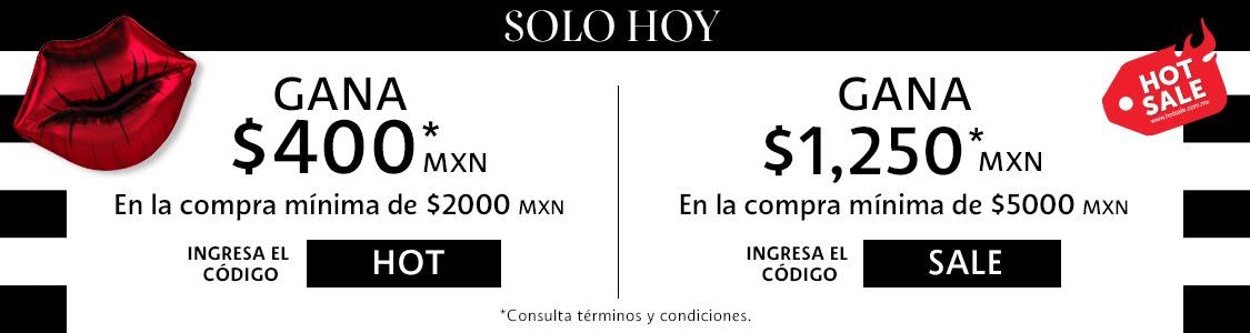 SEPHORA: descuento directo de $400 en compra de $2000 y de $1250 en compra de $5000