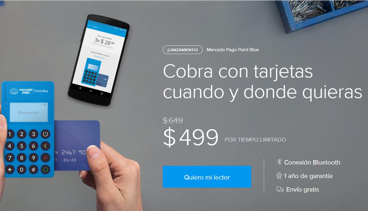 Hot Sale MercadoPago: lector Point Blue con descuento y 0% comisión en junio