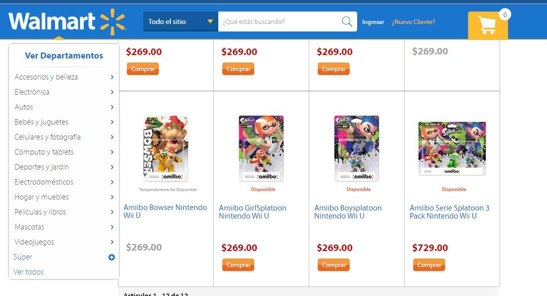 Walmart: Amiibos de Splatoon $269 y envío gratis