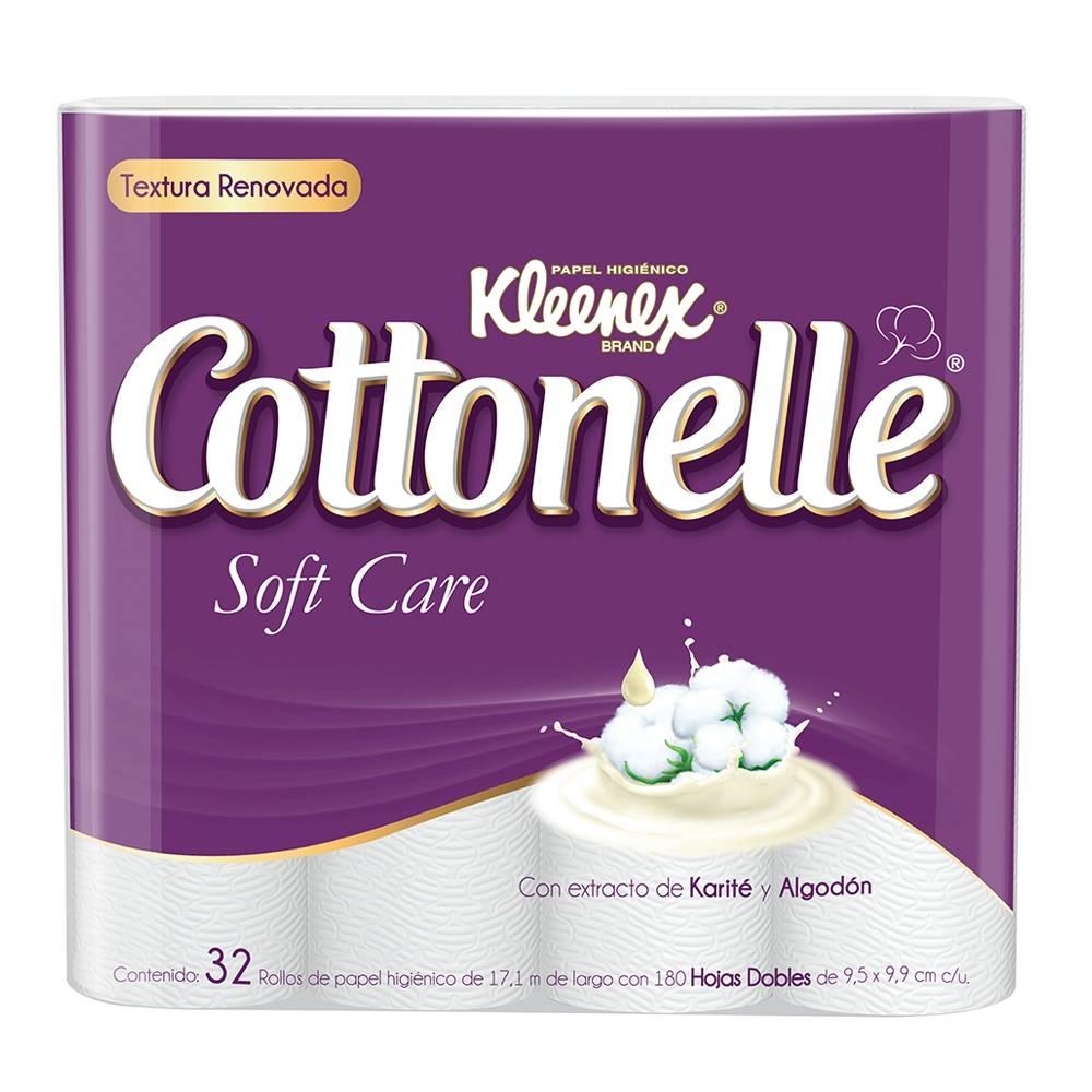 Super Walmart | Papel higiénico Kleenex Cottonelle 32 rollos 2 x $199