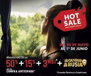 ADO HOT SALE: AHORRA HASTA UN 50% + 15% + 3MSI EN COMPRA ANTICIPADA