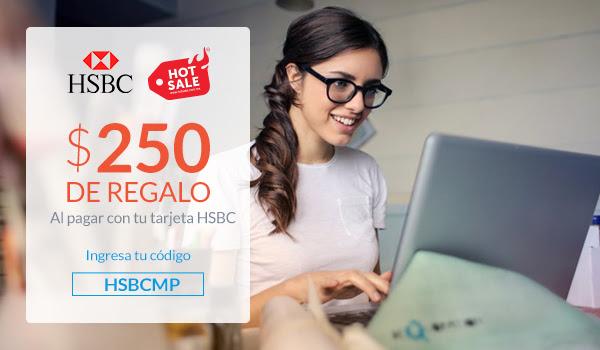 MercadoPago HSBC: $250 OFF, compra mínima de $2,500