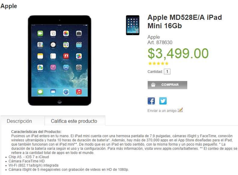 Sam's Club: iPad Mini 16GB desde $2,811 después de bonificaciones