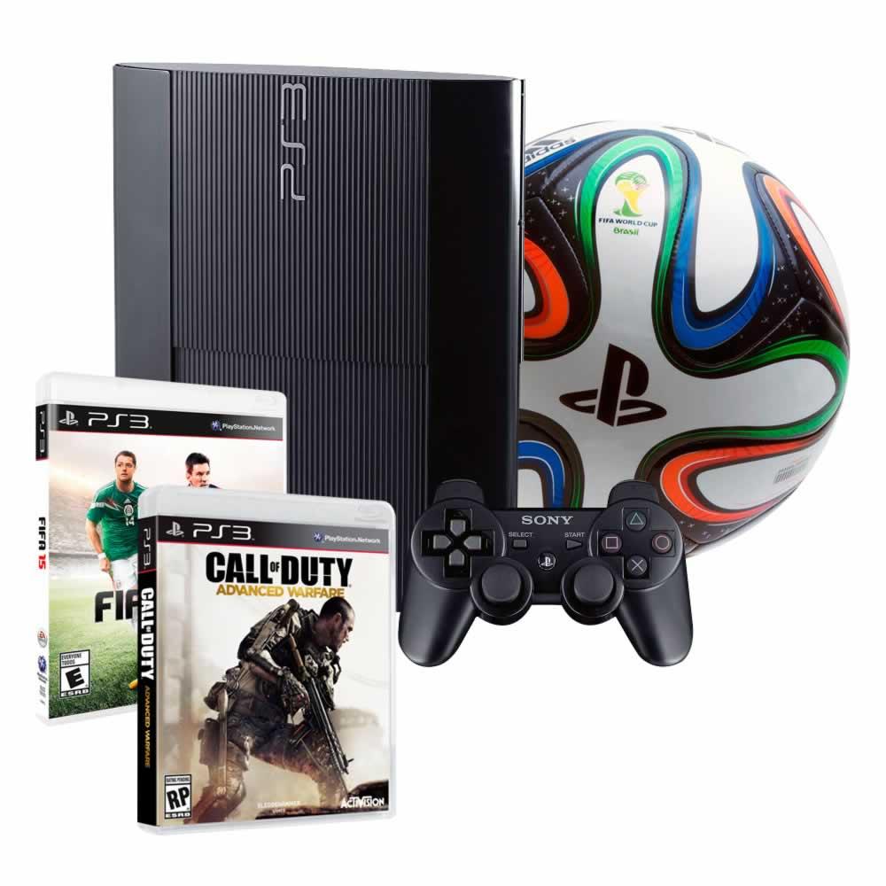 Walmart: Consola ps3 500gb con 2 juegos + control extra + balón $4,990