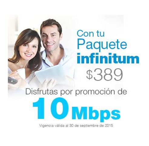 Telmex por promoción dará 10 Mbps.