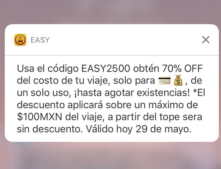 Easy Taxi: 70% OFF sobre un máximo de $100