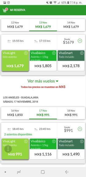 Vivaaerobus: Vuelo redondo Guadalajara Los Angeles Desde 2700