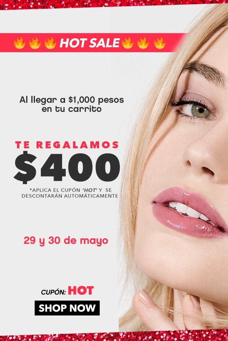 ELF Cosméticos HOT SALE: -$400 en compras de $1000 + 10% de descuento con MERCADO PAGO.
