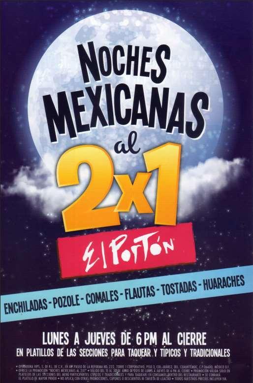 RESTAURANTE EL PORTÓN 2x1