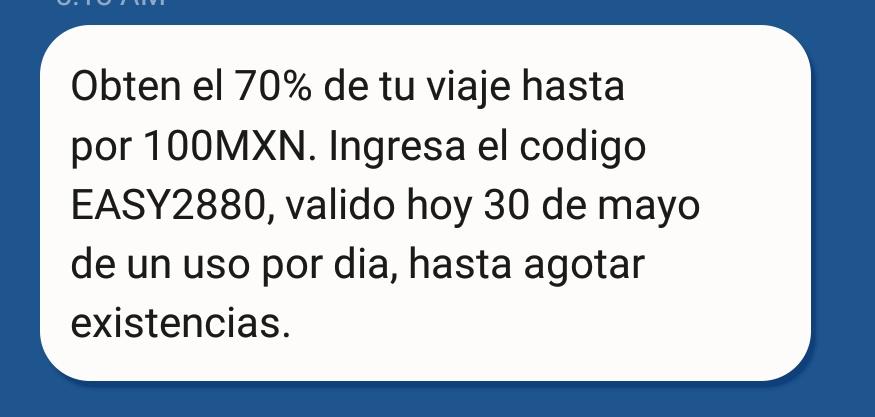 EASY TAXY: Cupón 70% OFF