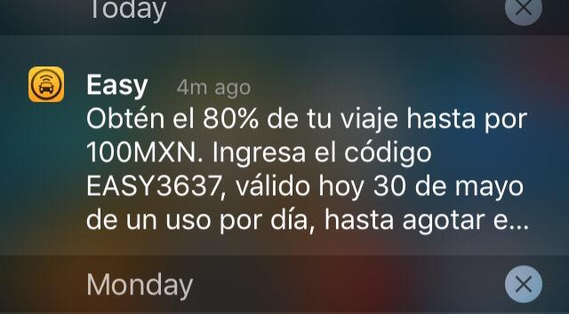 Easy taxi: 80% de descuento