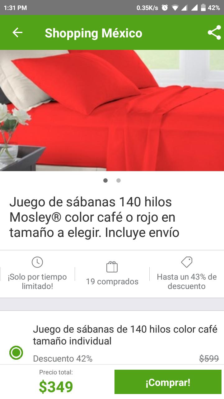 Hot Sale 2018 Groupon: Sábanas Mosley. Incluye envío