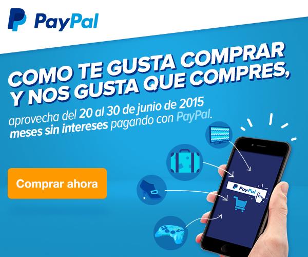 3 MSI con PayPal en Reserbus.mx