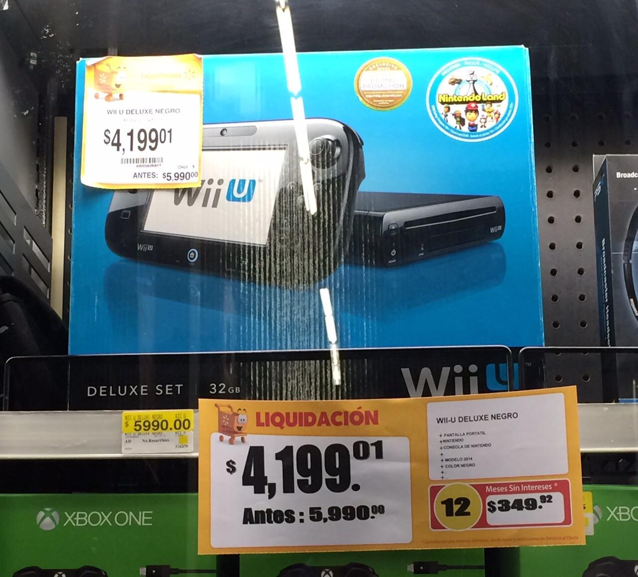 Walmart: Wii U Delux Negro a $4,199.01
