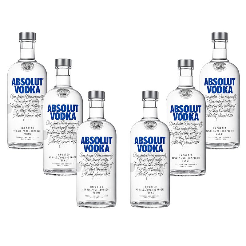 Hot Sale 2018 Costco: 6 Botellas de Vodka Absolut de 750 ml