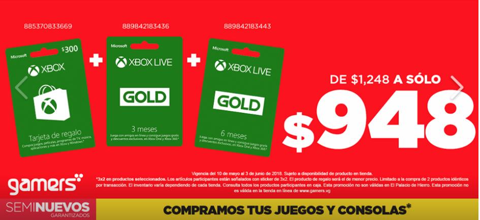 Gamers Retail: $300 + 9 meses de gold a $948