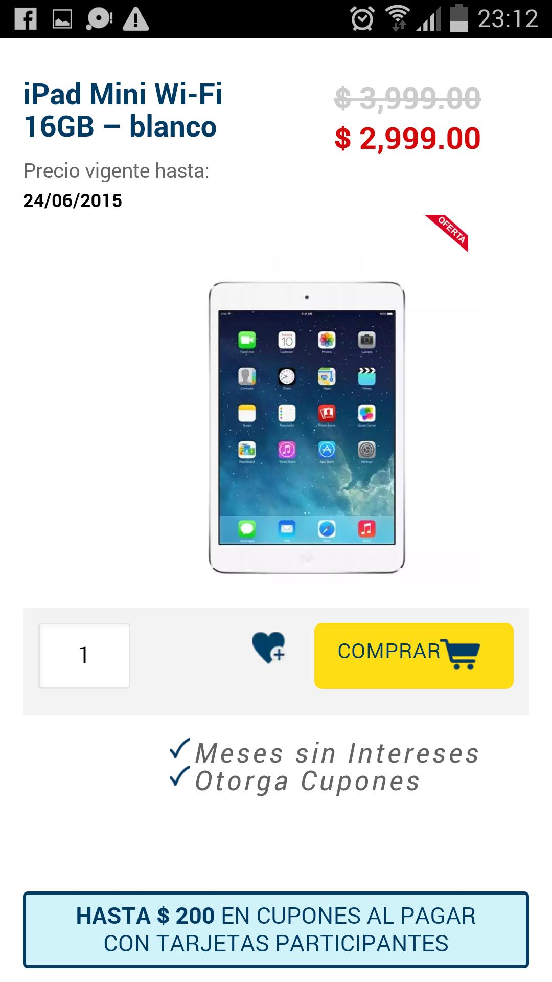 Best Buy: iPad mini en $2,999 mas cupones
