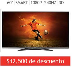 "Costco: Sharp LED 60"" Smart TV 3D 1080p 240Hz 4K input"