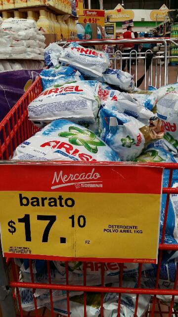 Mercado Soriana: Ariel 1 kilo a $17.10