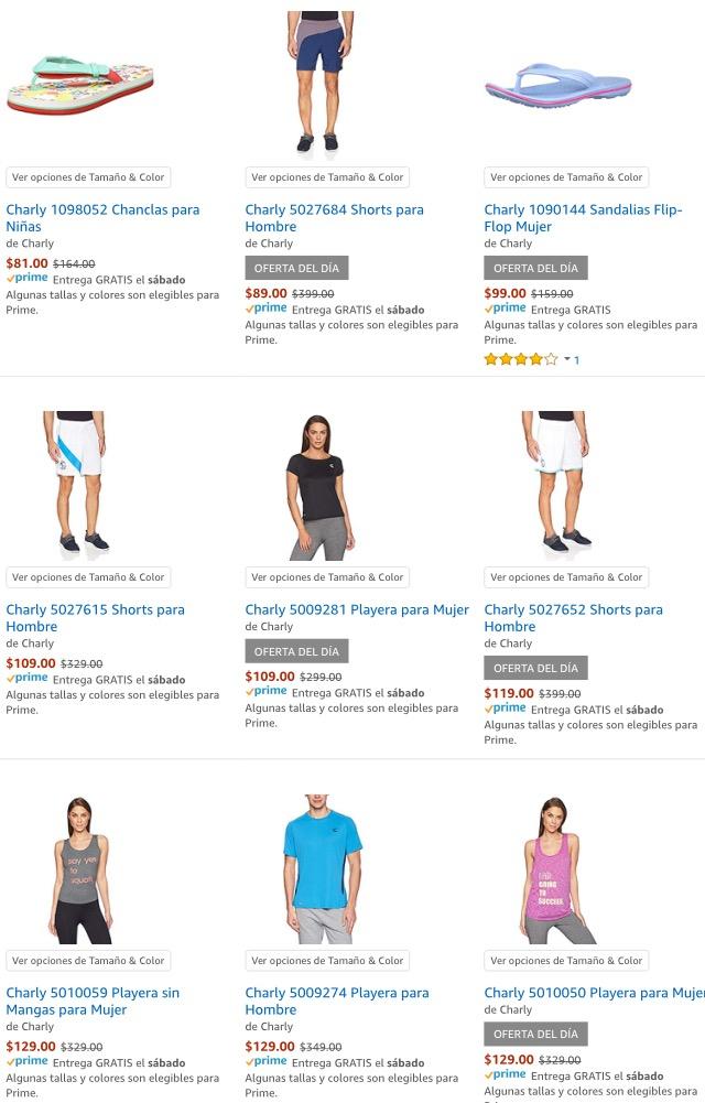 Hot Sale 2018 en Amazon: Numerosos descuentos en ropa de la marca charly, oferta del día