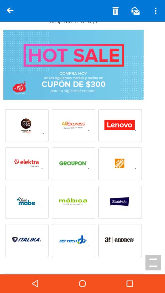 Hot Sale Mercado Pago: Compra hoy 31 de mayo en las siguientes marcas y recibe un cupón de $300 para siguiente compra.