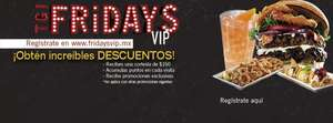 TGI Friday's: $150 de cortesía por registrarte