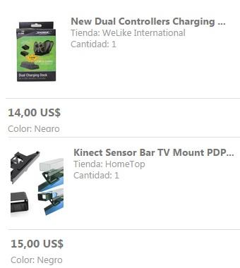 Wish: cargador dual para controles Xbox One con 2 pilas recargables 14 dólares