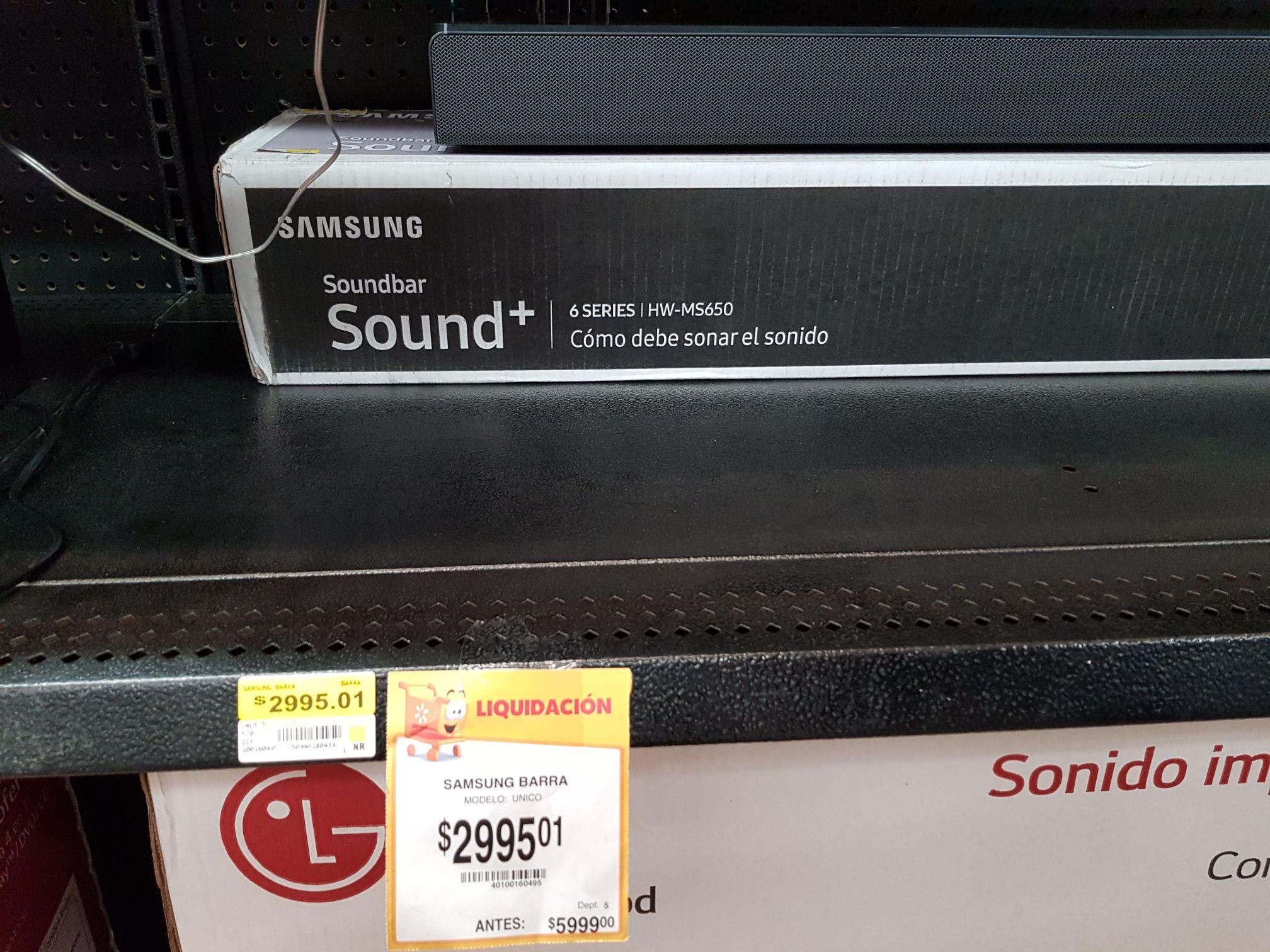 Walmart: barra de sonido Samsung Sound+ HW-MS650