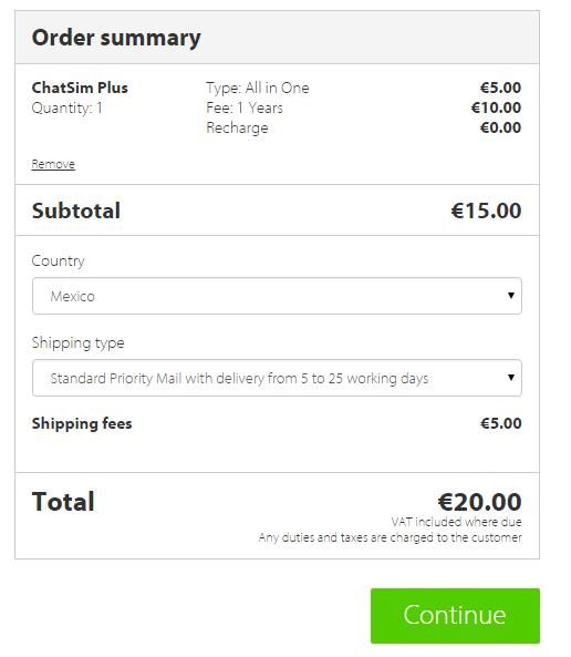 Chatsim: Whatsapp y apps de chat en todo el mundo por un año (texto y emoji) por 20 euros