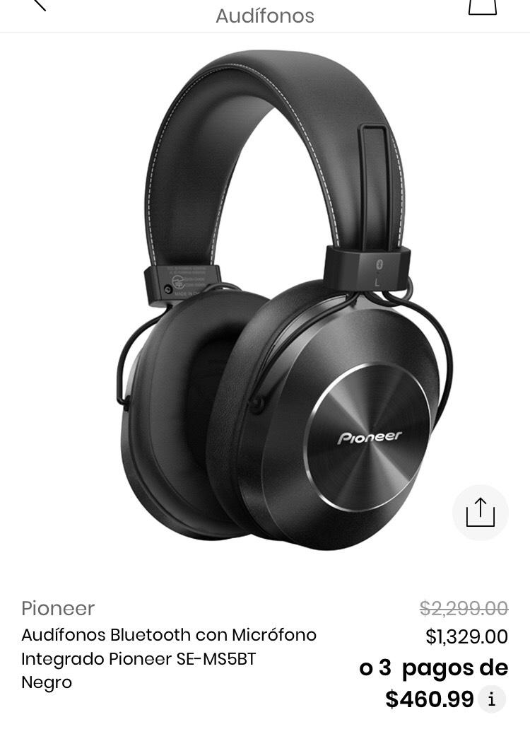 Privalia: audífonos Pionner bluetooth y 3.5mm ($839 con el descuento de $500 para nuevos usuarios)