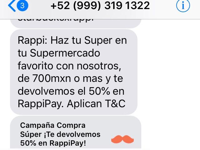 Rappi: 50% de descuento en el mandado con Rappi