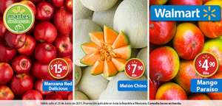 Martes de frescura en Walmart junio 23: Mango paraíso a $4.90 el kilo y más