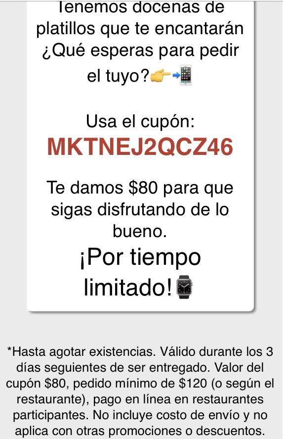 SinDelantal: Descuento $80 pesos en pedido de $120